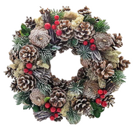 Frosty Winter Christmas Door Wreath Decoration