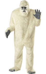 Adults Deluxe Abominable Snowman Fancy Dress Costume