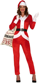 Ladies Santa Suit Fancy Dress Costume