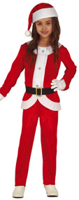Childs Festive Santa Fancy Dress Costume