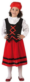 Girls Red Innkeeper Fancy Dress Costume