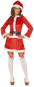 Ladies Sexy Mother Christmas Fancy Dress Costume
