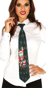 Adults Musical Light Up Christmas Fancy Dress Tie