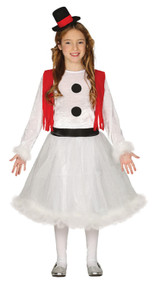 Girls Frosty Snowman Fancy Dress Costume