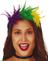 Ladies Feather Fancy Dress Hairband