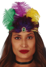 Ladies Colorful Flapper Fancy Dress Headband