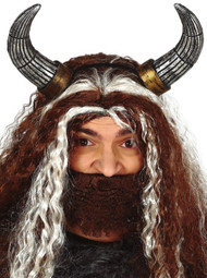Adults Viking Horns Fancy Dress Headband