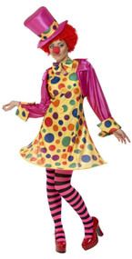 Ladies Crazy Clown Fancy Dress Costume