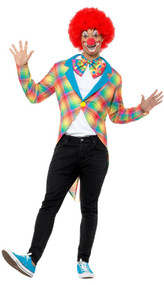 Mens Colorful Clown Fancy Dress Tailcoat