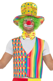Adults Crazy Clown Fancy Dress Costume Kit