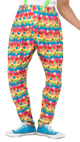 Mens Bright Clown Fancy Dress Costume Trousers