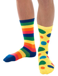 Adults Clown Fancy Dress Socks