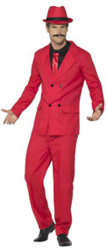Mens Red 1920s Gangster Fancy Dress Costume
