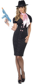 Ladies Gangster's Moll Fancy Dress Costume