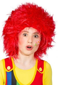 Child's Red Clown Fancy Dress Wig