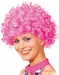 Adult Pink Afro Wig