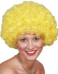 Adult Yellow Afro Wig