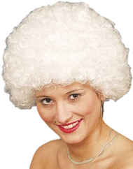 Adult White Afro Wig
