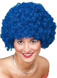 Adult Blue Afro Wig