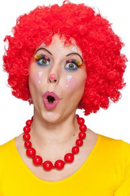 Adult Red Afro Wig