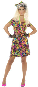 Ladies 80s Party Animal Fancy Dress Costume