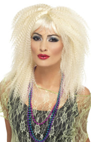 Ladies 80s Crimp Fancy Dress Wig