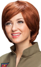 Ladies Auburn Pixie Cut Costume Wig
