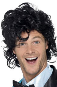 Mens 80s Prom King Fancy Dress Wig