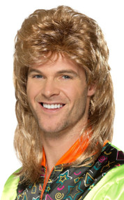 Mens 80s Mullet Fancy Dress Wig