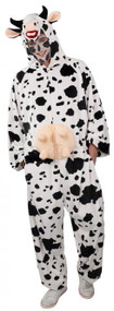 Adult Cow Jumpsuit Fancy Dress Costume