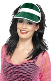 Adults Green 80s Sun Visor Hat