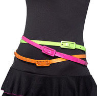 Ladies 80s Neon Fancy Dress Belts
