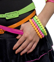 Ladies 80s Neon Fancy Dress Bracelets