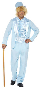 Mens 90s Blue Tuxedo Fancy Dress Costume