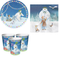 The Snowman & The Snowdog Party Tableware Set