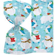 Christmas Snowman Cello Gift Bags