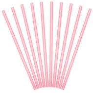 Light Pink Paper Party Straws