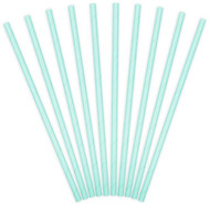 Light Blue Paper Party Straws