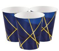 Navy & Gold Geode Cups