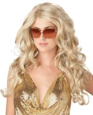 Ladies Blonde Celebrity Fancy Dress Wig