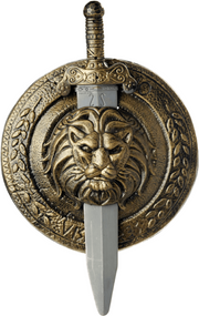 Adults Gladiator Sword & Shield Accessory