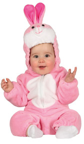 Baby Girls Pink Bunny Fancy Dress Costume