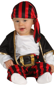 Baby Stripy Pirate Fancy Dress Costume