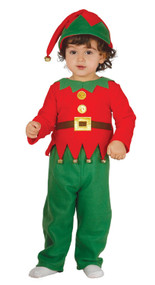 Baby Xmas Elf Fancy Dress Costume