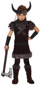 Childs Dark Viking Fancy Dress Costume