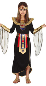 Girls Dark Egyptian Fancy Dress Costume
