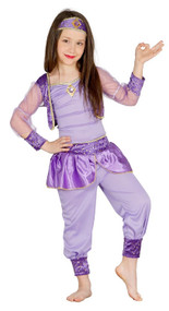 Girls Purple Arabian Princess Fancy Dress Costume