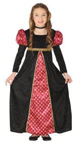 Girls Medieval Dame Fancy Dress Costume