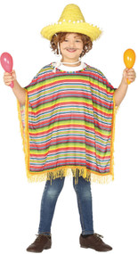Childs Mexican Fancy Dress Costume