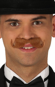 Mens Brown Imperial Moustache